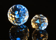 Magic cut crystal spheres Stock Images