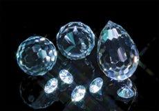 Magic cut crystals Royalty Free Stock Image