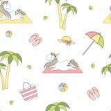 2018.04.25_unicorn beach_P2 stock illustration