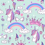 Magic cute unicorn Stock Images