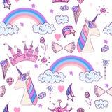 Magic cute unicorn Royalty Free Stock Images