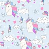 Magic cute unicorn Stock Photo