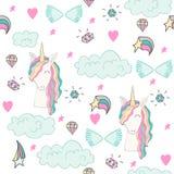Magic cute unicorn Stock Photos