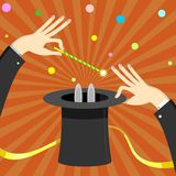 Magic cylinder magician. Royalty Free Stock Images