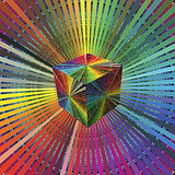 Magic 3D Cube in rainbow colors Royalty Free Stock Image