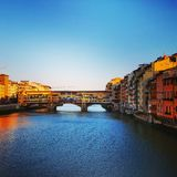 Bridges in Firenze. Magic day in the historical Firenze Stock Image