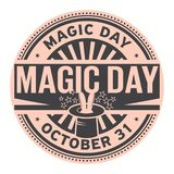 Magic Day, October 31. Rubber stamp, vector Illustration royalty free illustration
