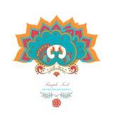 Magic decorative hindu peacock Royalty Free Stock Photo