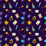 Magic decorative icons seamless pattern Stock Photo