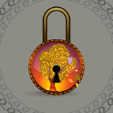 Magic decorative lock Royalty Free Stock Photo
