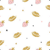 Magic design seamless pattern hand drawn  elements. Royalty Free Stock Images