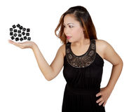 Magic dice Stock Image