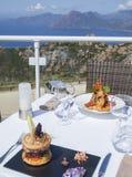 Magic dinner on the sea Stock Image