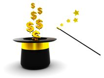 Magic Dollars Stock Image