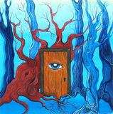 Magic door in the forest Royalty Free Stock Photography
