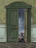 Magic door Stock Photo