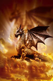 Magic dragon stock photography