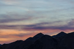 Magic dusk over Canterbury Hills, New Zealand Royalty Free Stock Image