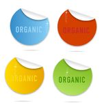Magic eco curl labels sign set Stock Image