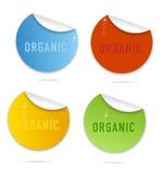Magic eco curl labels sign set Stock Image