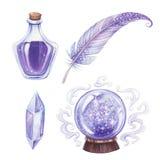 Magic elements set. Stock Photo