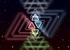 Magic elements symbol spreads the shiny mystic energy in spiritual space. Magic elements symbol spreads the mystic energy in spiritual space Stock Photos