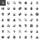 Magic elements vector icons set stock illustration