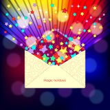 Magic envelope Royalty Free Stock Photography