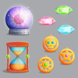 Magic equipment items for game design Stock Photography
