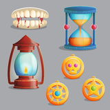 Magic equipment items for game design Royalty Free Stock Photo