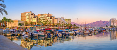 The magic evenings in Eilat Stock Photography