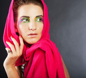 Magic eyes make-up Royalty Free Stock Images