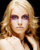 Magic eyes make-up Royalty Free Stock Photo