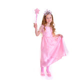 Magic Fairy. Young girl as magic fairy on white background Stock Image