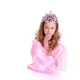 Magic Fairy. Young girl as magic fairy on white background Royalty Free Stock Photography