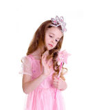Magic Fairy. Young girl as magic fairy on white background Stock Images