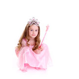 Magic Fairy. Young girl as magic fairy on white background Stock Photos