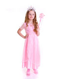 Magic Fairy. Young girl as magic fairy on white background Royalty Free Stock Photos