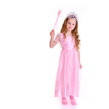 Magic Fairy. Young girl as magic fairy on white background Royalty Free Stock Images