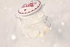 Magic fairy jar with lights holiday decoration Stock Images