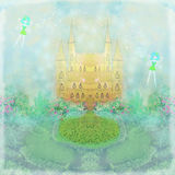 Magic Fairy Tale Princess Castle Royalty Free Stock Photography