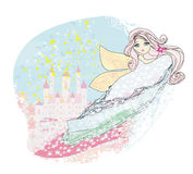 Magic Fairy Tale Princess Castle Royalty Free Stock Photos