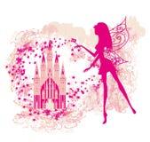 Magic Fairy Tale Princess Castle. Illustration Stock Photos