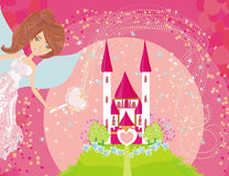 Magic Fairy Tale Princess Castle royalty free illustration