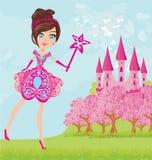 Magic Fairy Tale Princess Castle Stock Image