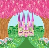 Magic Fairy Tale Princess Castle. Vector Illustration Royalty Free Stock Photos