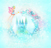 Magic Fairy Tale Princess Castle Stock Photos