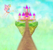 Magic Fairy Tale Princess Castle Royalty Free Stock Image