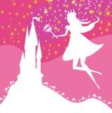 Magic Fairy Tale Princess Castle. Vector illustration Stock Photography