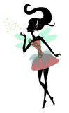 Magic Fairy with wings, vector illustration Stock Images